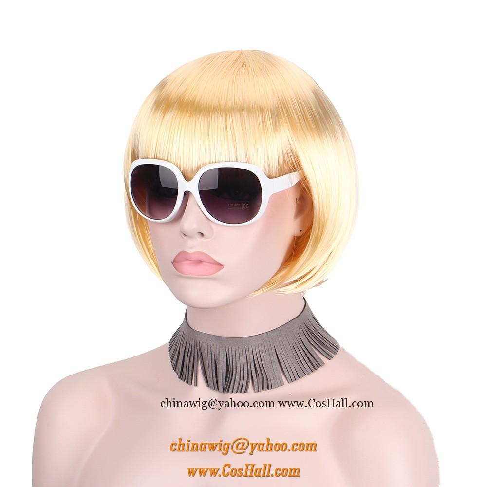 Short Bob Blonde Wigs For Women Cosplay Wigs Cosplay Wigs Lingerie