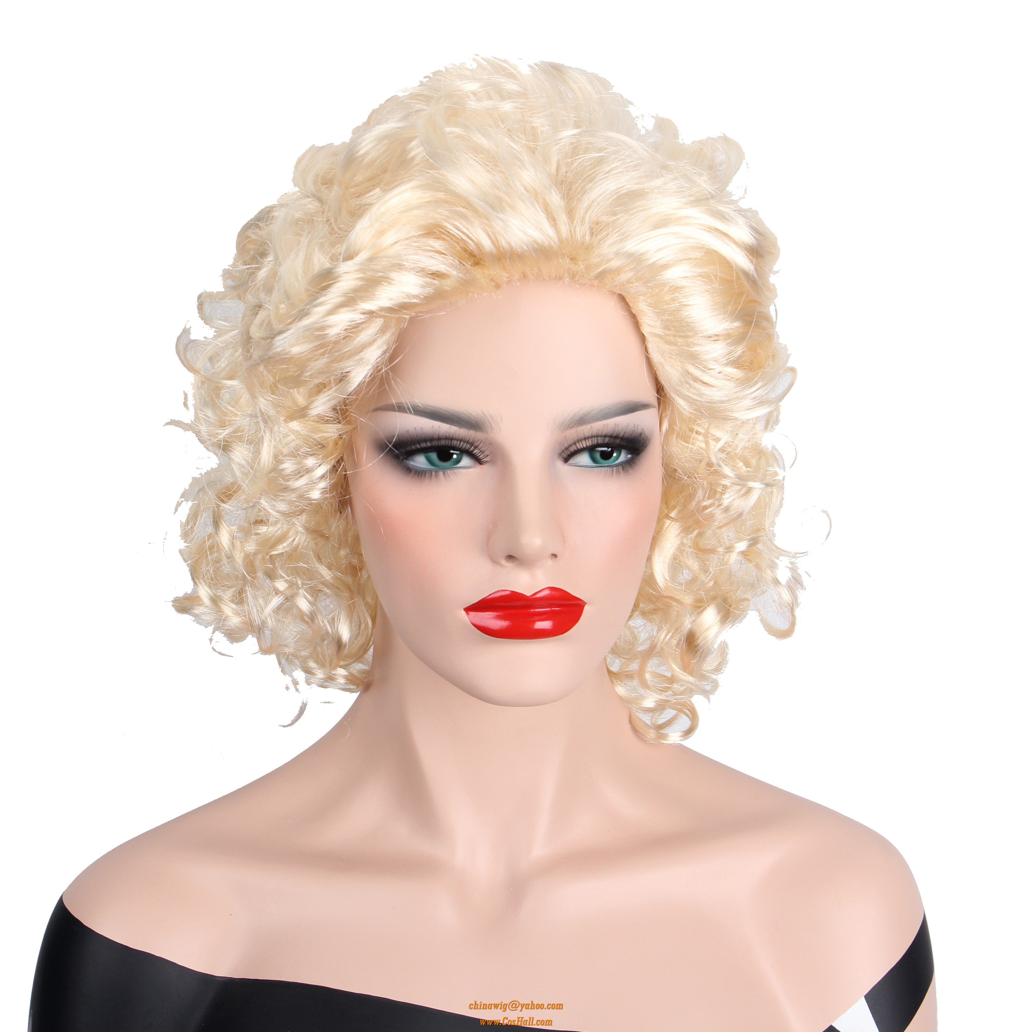 Lolita Blonde Curly kinky Wigs for white women - Cosplay Wigs ... 1f50d979e8